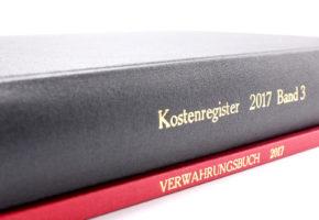 Kostenregister und Verwahrungsbuch